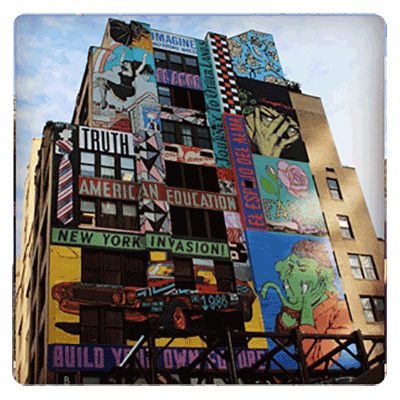 Faile Mural in Hell's Kitchen