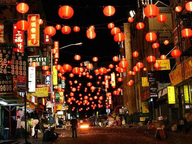 lights in Manhattan Chinatown